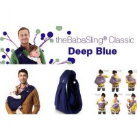 The Baba Sling Classic 5in1 Baby Carrier Deep Blue