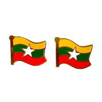 Mulyocreative Pin Bendera Myanmar Bros [2 pcs]