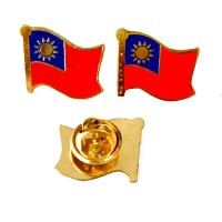 Mulyocreative Pin Bendera Taiwan Bros [2 pcs]