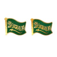 Mulyocreative Arab Saudi Uni Emirat Arab Flag Pin [2 Pcs]