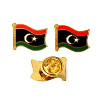 Mulyocreative Libya Flag Pin [2 Pcs]