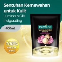 Palmolive Luminous Invigorating Shower Gel/Sabun Mandi Pouch 400ml