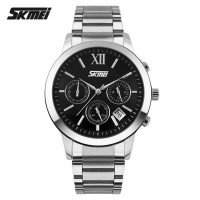 [SKMEI] Casual Men Stainless Strap Watch - 9097CS - HITAM