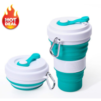BIG VOLUME Collapsible Silicone Foldable Coffee Cup 550ML
