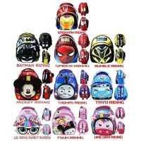 Tas Ransel Anak TK - LOL TSUM THOMAS UNICORN BUMBLE IRONMAN TAYO LOL UNICORN TSUM RIDING 3D
