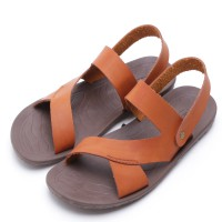 Dr.Kevin Leather Sandals 1629 Tan, Blue, Black