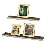 Prissilia Rak Dinding Floating Shelf 80 [ 3 pcs ] Coklat