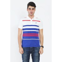 Country Fiesta MenS Polo Short Off White-AHRMCOFL0084