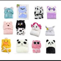 SELIMUT TOPI - CARTER BLANKET WITH HOODIE ANIMAL SERIES - NEW BORN GIFT