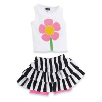 Mudpie Flower Skirt Set #1112132
