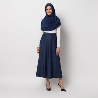 COVERING STORY Valha Flare Skirt Dark Blue