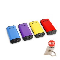 Delcell TWEE Powerbank 4000mAh Real Capacity Free 1pc Delcell iRing Random Colour