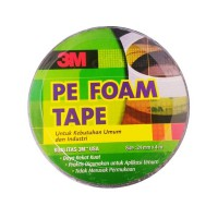 3M 1600 T Double Tape PE Foam tebal: 1.0 mm, size 24 mm x 4m