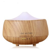 H32 - Wooden Humidifier Aroma Diffuser 7 Color LED Light 250ml