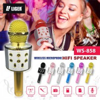 MICROPHONE WIRELESS MIC KARAOKE BLUETOOTH MIC WSTER858 LIGER