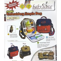 Sein Tas Bayi Scots - Baby Scots Embroidery Simple Bag - Coklat