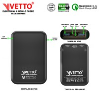 VETTO VD10 PowerBank Quick Charge 3.0 - 10000 mAh