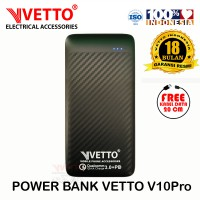 VETTO V10Pro PowerBank Quick Charge 3.0 + PD - 10000 mAh