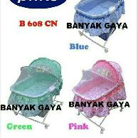 BABY BOX OVAL 608 CN PLIKO BLUE, PINK, GREEN