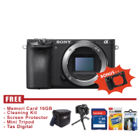 Sony Alpha A6500 Body Only - Hitam - FREE Accessories