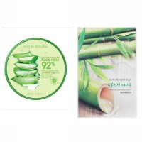 Nature Republic Soothing & Moisture Aloe Vera 92% + Sheet Mask Bamboo (1pcs)