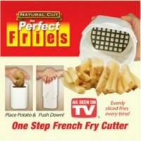 Perfect Fries French Fries Maker Pemotong Pembuat Kentang Kotak Persegi