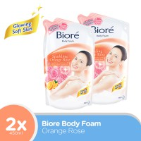 Biore Body Foam Orange Rose 450Ml - Twinpack
