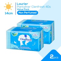 Laurier Pantyliner Cleanfresh 40S Non Perfume Value Bundle