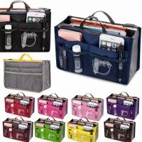Korean Bag organizer Bag in Bag Tas Penyimpanan Dual Storage