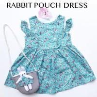 dress anak dress bayi baju anak baju bayi RABBIT POUCH DRESS babeebabyshop