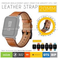 SIKAI PREMIUM Leather Strap Smartwatch Xiaomi Huami Amazfit GTS / GTR 42MM / BIP LITE YOUTH 20MM