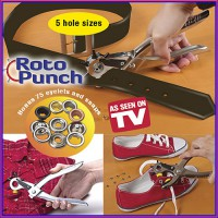 ROTO PUNCH as seen on TV alat serbaguna untuk lubang sabuk dll