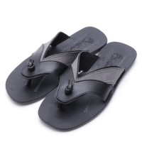 Dr.Kevin Canvas Sandals 17178 Black/Grey & Tan/Brown