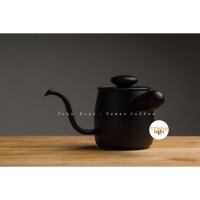 Miyaco Pour Over Kettle Black 400ml Single Drip For Coffee And Tea MCO-5