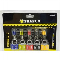 BRABUS Gembok Tas Koper Set 5 Pcs 20 Mm