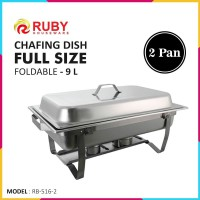 Terbaru RUBY RB-516 Full Sized Foldable Chafing Dish 9L - 2 Pan