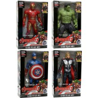 Mainan Robot Avenger 2 set of 4 ,Captain America, Hulk, Iron Man, Thor