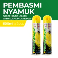 Force Magic Lemon with Eukaliptus Repels 600 ml - Paket Hemat Isi 2