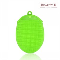 BeautyK Eco Silicone Beauty & Body Shower Towel Green