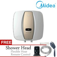 PROMO MERDEKA! Midea Pemanas Air Listrik D15/02 EVA w/ Remote Free Hand Shower+Flexible Pipe