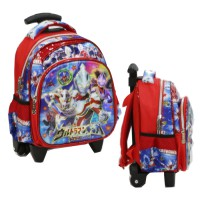Tas Trolley Anak PAUT Import - ULTRAMAN 5D Timbul Hologram - Red