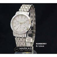 Jam Tangan BurBerry The City Chronograph Stainless Steel_Super AAA