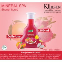 KLINSEN SHOWER SCRUB - MINERAL SPA 280ml - Sabun Mandi Cair