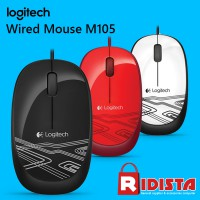 Logitech Mouse Wired Optical M105 [Garansi Resmi]