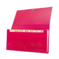 Bantex Expanding File Cheque (12 Pockets) Red #8811 09