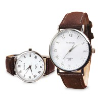 Luxury Fashion Faux Leather Mens Analog Watch Watches New Jam Tangan