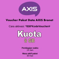 AXIS Voucher Paket Data Bronet Kuota 8GB 24 Jam 30 Hari