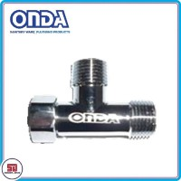 ONDA Tee Brass Chrome Fitting MXF Sambungan Cabang Kuningan 1/2