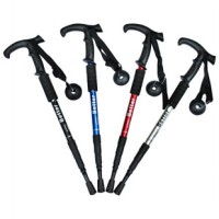 3 Tipe Lurus Folding Hiking Walking Poles Tongkat (Warna Acak)