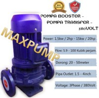 Pompa Booster Pendorong Air Pompa Transfer 3Hp 380v Pompa Dorong 1.5in